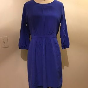Royal blue cinched waist dress